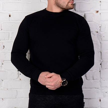 Мужской свитшот черного цвета, фото 2
