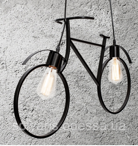 Люстра велосипед 756PR7021-2 черная
