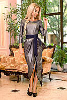 Асимметричное платье с напылением