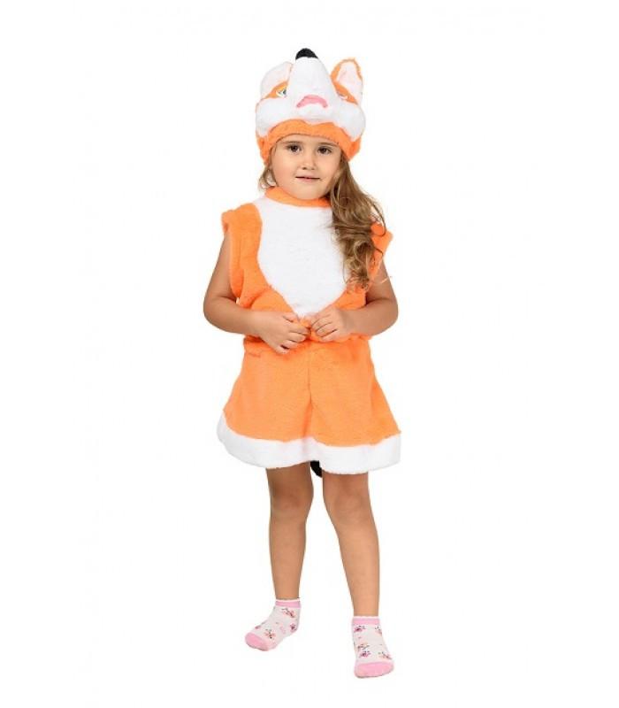 Новорічний костюм Лисиці для дівчинки від 2 до 5 років на виступ, дитячий ранок