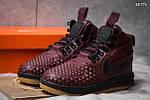 Зимние кроссовки Nike LF1 Duckboot (бордовые), фото 5