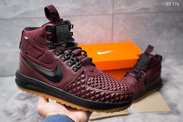 Зимние кроссовки Nike LF1 Duckboot (бордовые)