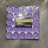 Свечи чайные фиолетовые