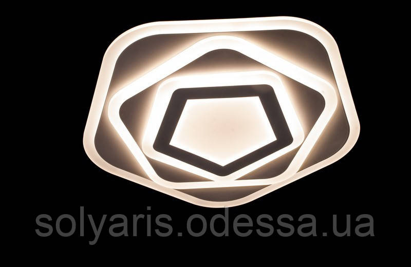 Светодиодная люстра с порежимным включением потолочная   6056-55*55 (8673)
