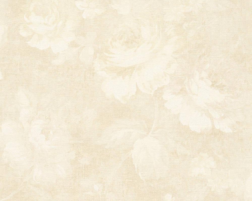 Обои тканеподобные флизелиновые, с розами кремового цвета 336044