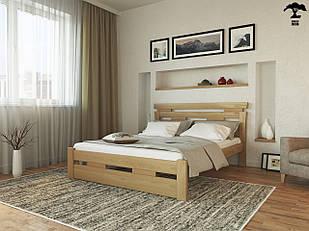 Ліжко односпальне 80х200  в спальню дерев'янне буковеЗевс  Лев
