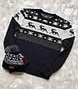 Зимний свитер мужской серый от бренда Morning Star размер S, M, L, фото 2