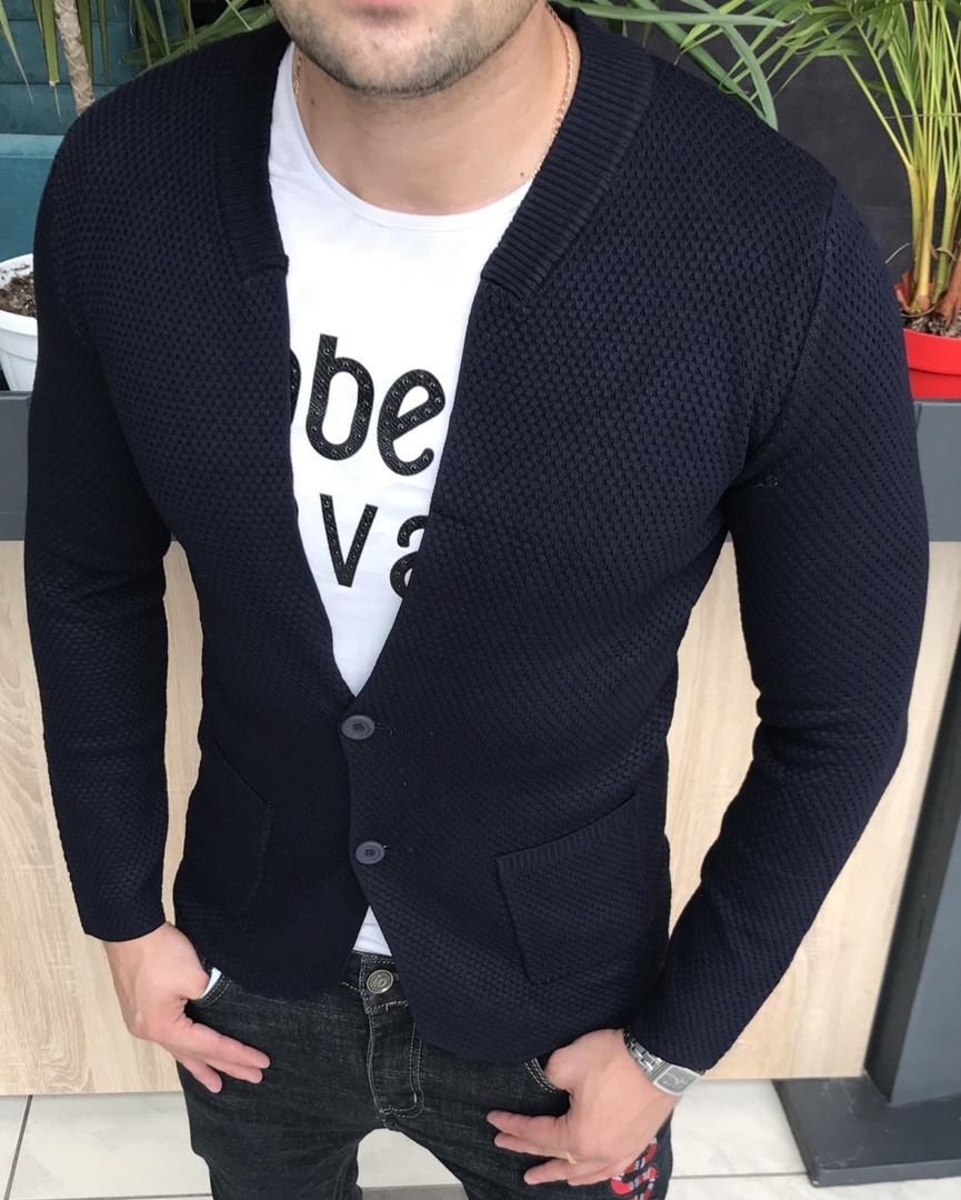 Стильный приталенный мужской кардиган. Коллекция Осень 2018. Дорогой и приятный материал XL, 2XL, 3XL, 4XL
