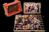 Набор шоколадных плиток с фото «Крафт пазл» 63 шт черный шоколад OK-1090