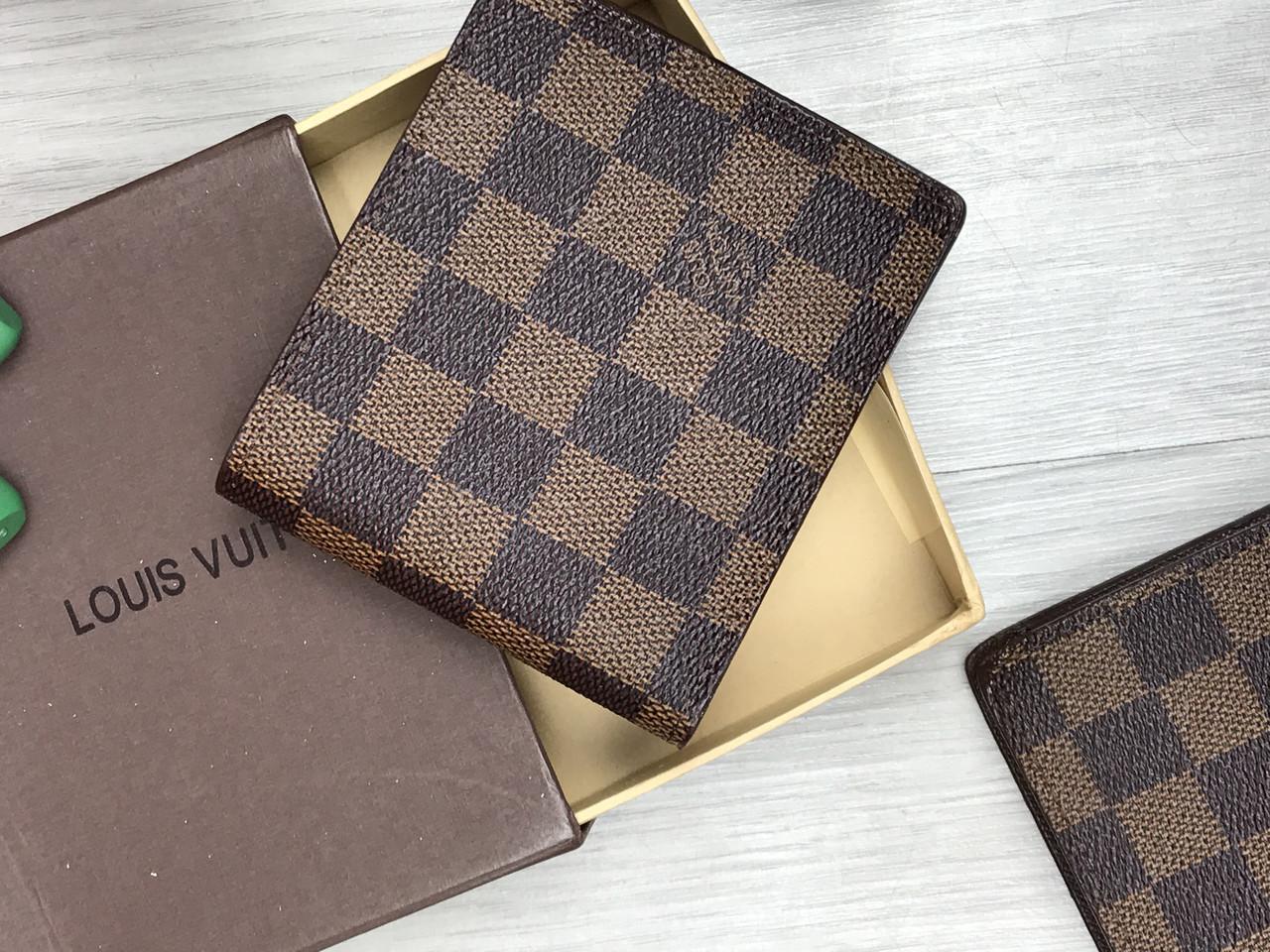 0597f5896b96 Кошелек коричневый в клетку Louis Vuitton Луи Виттон - Интернет-магазин