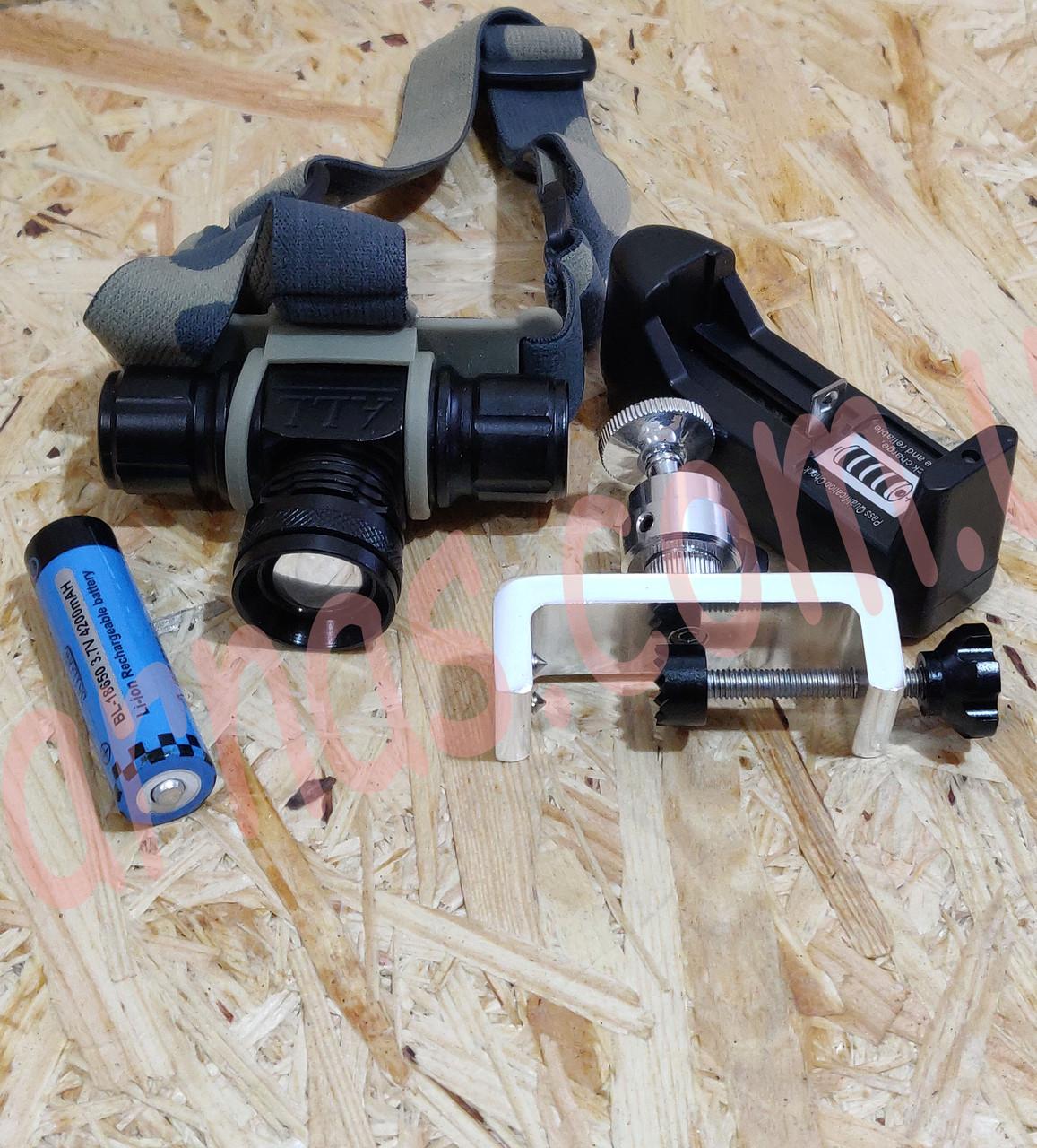 Аккумуляторный налобный фонарь Bailong D-820 Cree-T6
