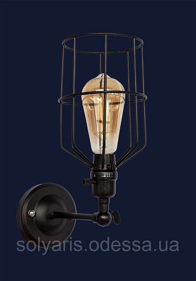 Бра ,настенный светильник лофт 756WPR1985-1BK