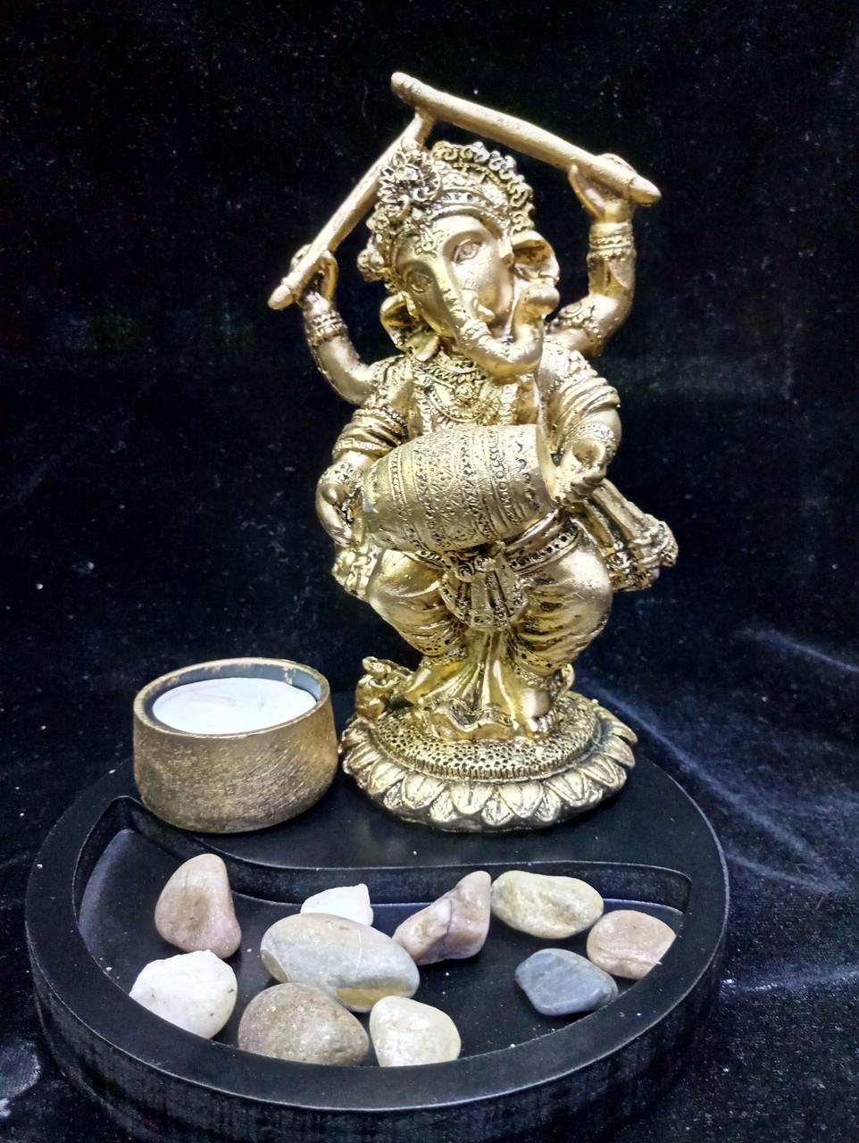 Статуетка Ганеша в композиції зі свічкою