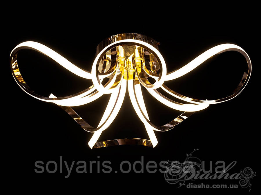 Сучасна світлодіодна люстра, 105W X9700/6 G dimmer(,золото,хром