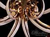 Сучасна світлодіодна люстра, 105W X9700/6 G dimmer(,золото,хром, фото 4