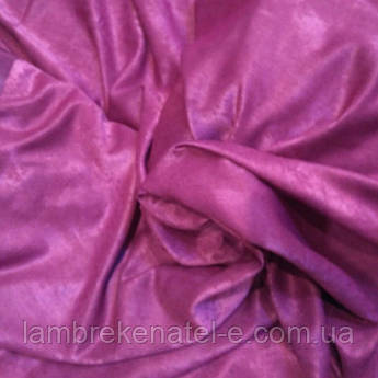Портьерная ткань для штор бордовая Софт двухсторонний