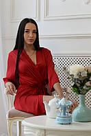 Женский стильный шёлковый халат