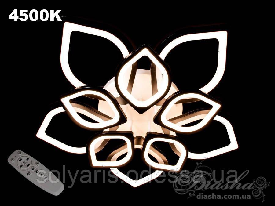 Люстра потолочная светодиодная 5540/5+5 Dimmer  (черная,белая)