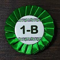 Наградная розетка зелёная со значком