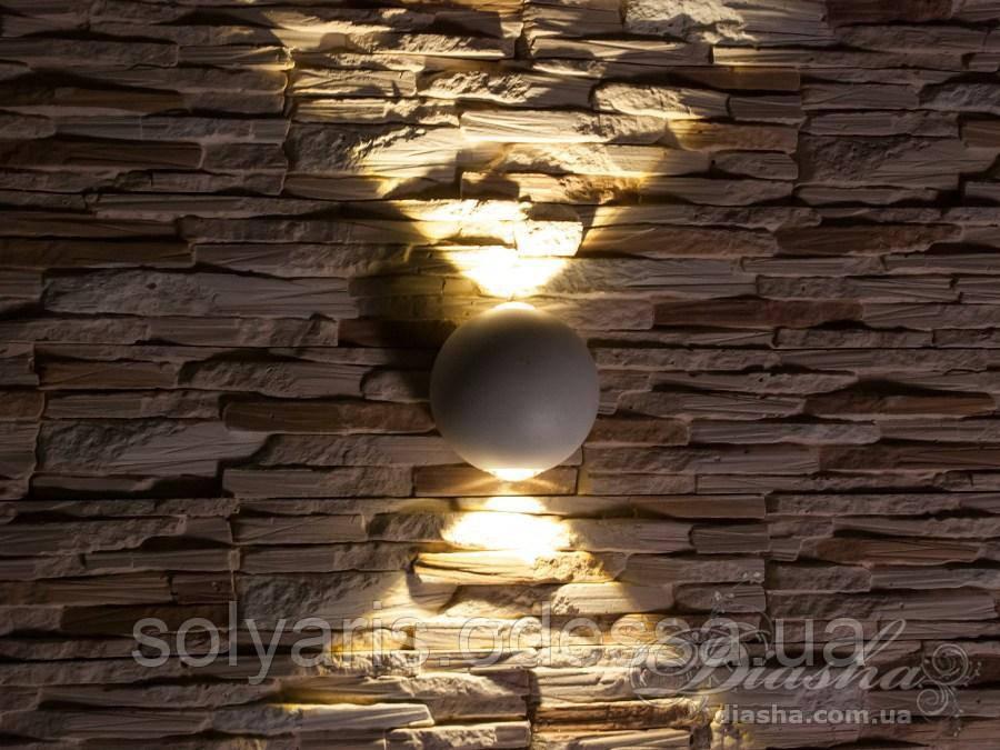 Четырёхлучевой фасадный LED светильник 6W DFB-1814WH NW