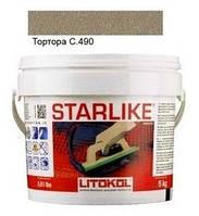 Litokol Starlike C.490 ведро 5 кг (тортора), эпоксидная двухкомпонентная затирка Старлайк Литокол