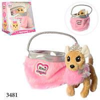 Собачка Кики в меховой сумке 3481-N-UA