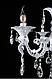 Люстра классическая свеча  L223/8 (WT+SL), фото 4