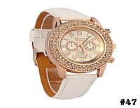 Женские кварцевые наручные часы / годинник Geneva Platinum белого цвета (47)