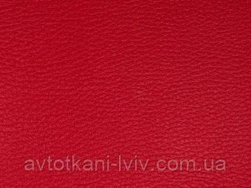 Искусственная кожа ярко-красная