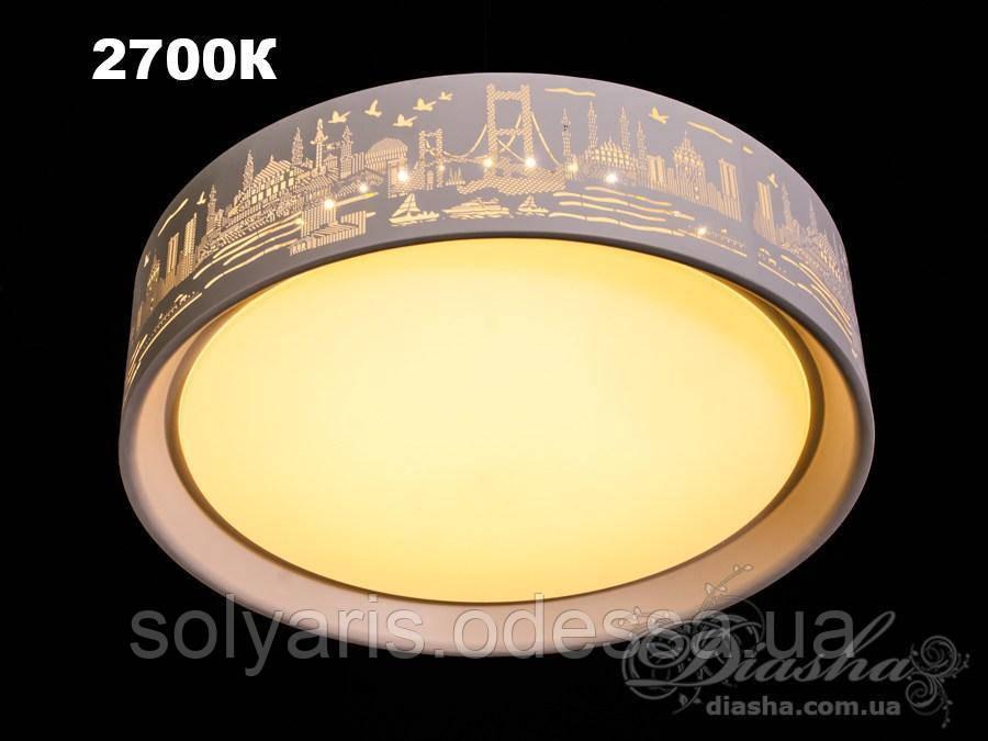 Люстра потолочная светодиодная 9909/800 (80см)