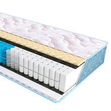 Ортопедичний матрац з незалежним пружинним блоком Optima 2 в 1 Fitness Sleep&Fly ЕММ