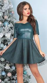 Т3036 Платье с фатиновой юбкой (размеры 42-46)
