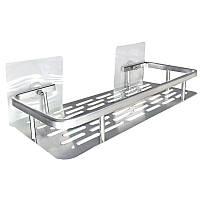 Полочка для аксессуаров в ванную 32 см на липучке 5кг SQ-5091 132855