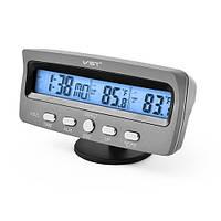 Автомобильные  термометр часы VST 7045 авточасы Электронные часы в машину,Часы с будильником в авто