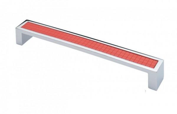Ручка меблева Ozkardesler 5254-06/038 MADRID 192мм Хром-Червона