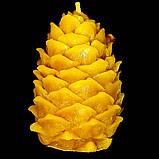 """Новогодняя восковая свеча """"Кедровая шишка"""" из натурального пчелиного воска, фото 3"""