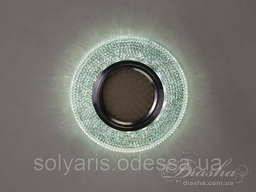 Кришталевий точковий світильник з вбудованим LED підсвічуванням 7011R