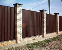 Профнастил стеновой ПС-8 коричневый, тол. 0,45 мм
