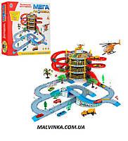 Гараж 922-10   4 этажа,машинка 2шт,вертолет,дорож.знаки,дерево 4шт,в кор-ке,47,5-40,5-9 см