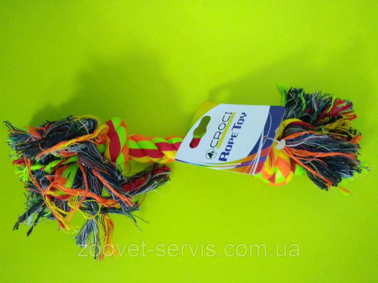 Игрушка для собак Croci канат грейфер c двумя узлами 30см C6AS0116