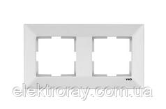 Рамка 2-местная горизонтальная белая Viko Meridian