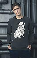 Мужской зимний свитшот BEZET Pug с начесом