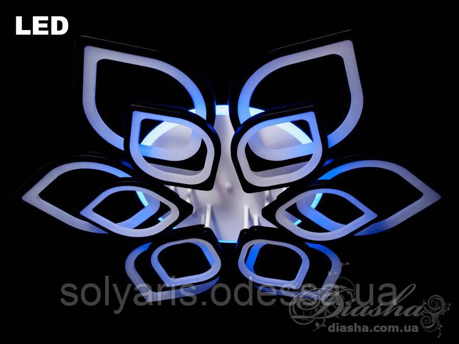 Потолочная светодиодная люстра 260W 8073/6+6 LED dimmer (белая,черная)