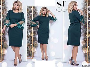 Платье БАТАЛ  пайетки  в расцветках 461063, фото 2