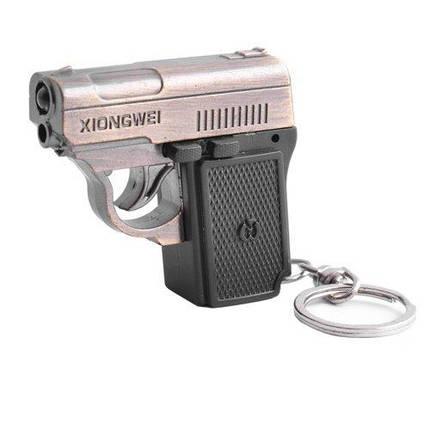 Фонарь брелок пистолет 811-LED, лазер, 3xLR44, фото 2