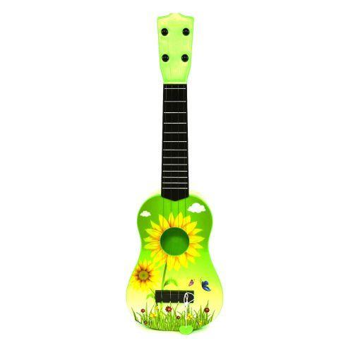 Детская гитара четырёхструнная (зеленая)