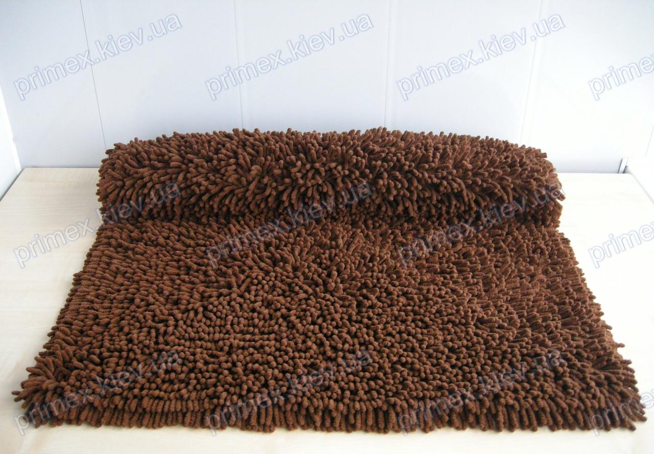 Коврик для ванной хлопковый, 70*100см. цвет коричневый. Коврик для ванной хлопок купить