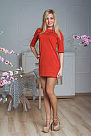 Платье-туника с молниями терракот, фото 1