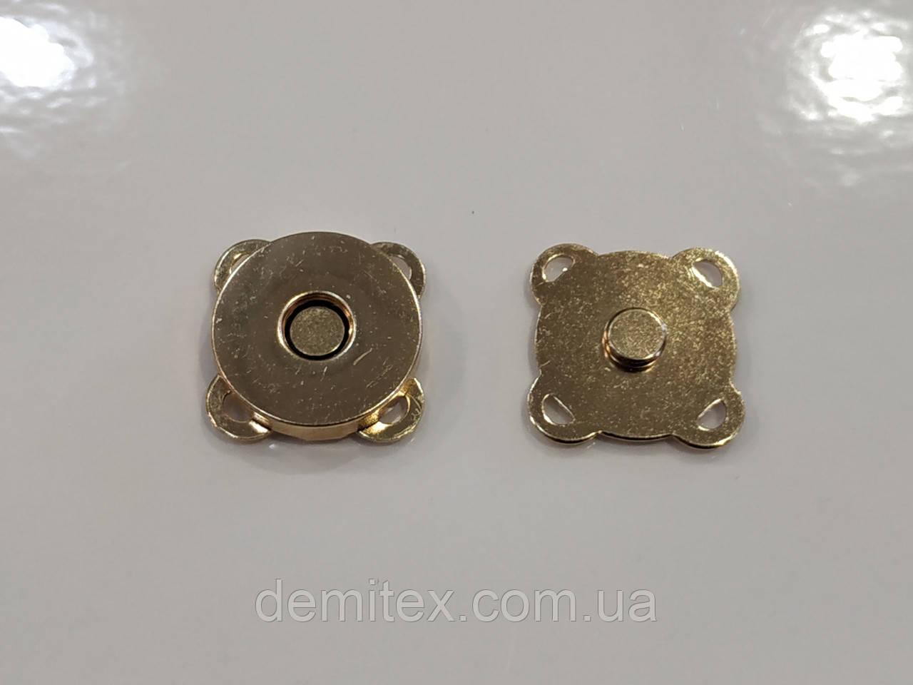 Магнит сумочный пришивной золото 18мм