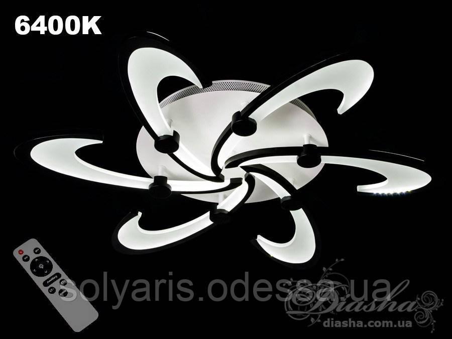 Стельова світлодіодна люстра, 100W MX2315/6 dimmer (біла)